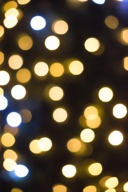 Christmas lights in shopping center