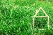 Fotografie Model house made on green grass