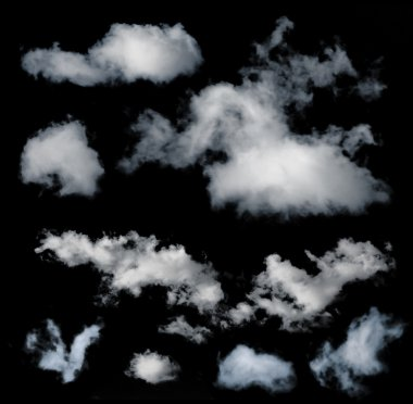 Black isolated clouds