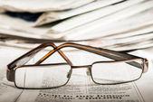 Fotografie brýle na noviny