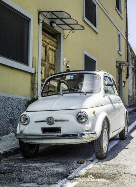 White small vintage Fiat Abarth