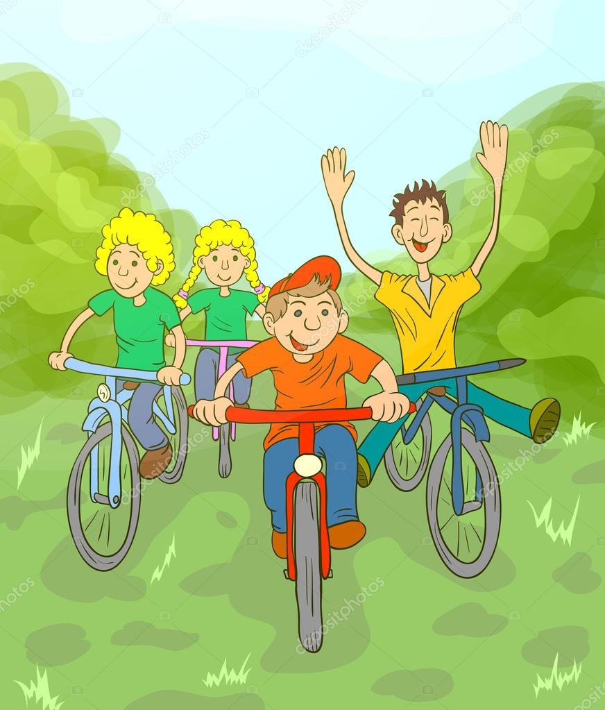 Children Ride Bike