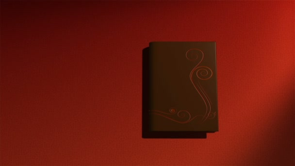 Animated book with turning pages,flying butterflies