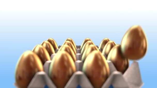 intro animazione di uova doro come concetto di business e di successo