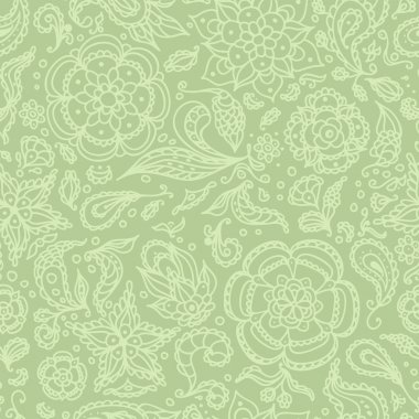 Seamless abstract floral pattern or olive background