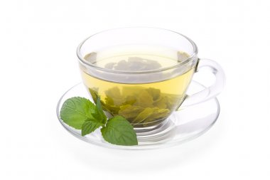 Green tea with pepper mint