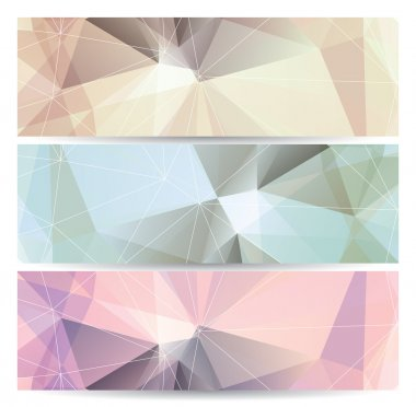 abstract geometric banners (headers)