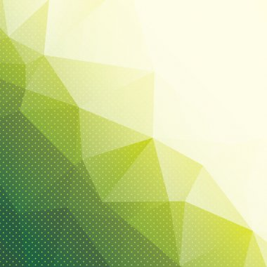 abstract green triangle background with dots