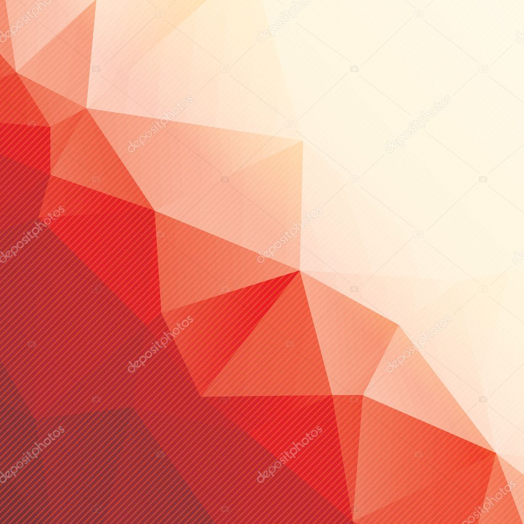 abstract red triangle background with stripes