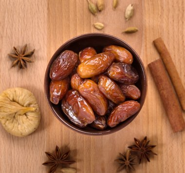 Dry dates top view