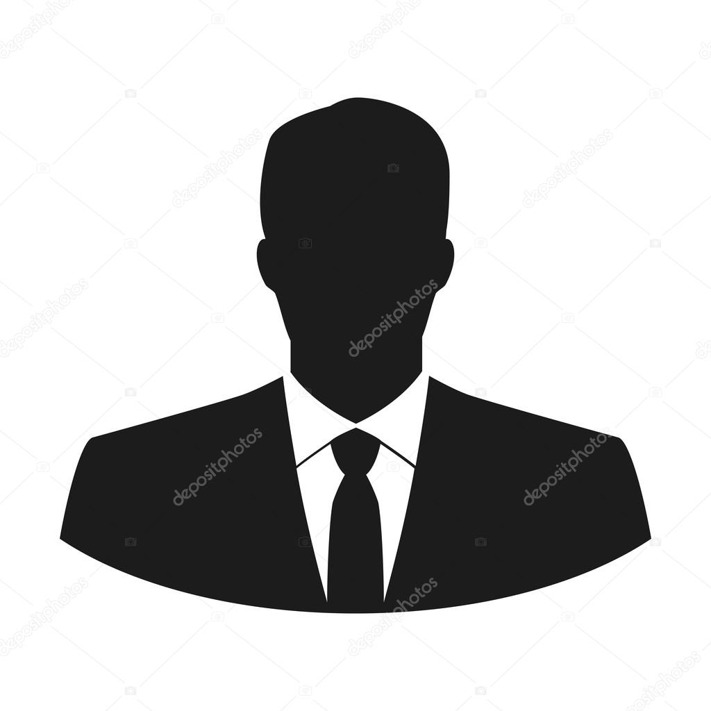 Vector user icon of man in business suit \u2014 Stock Vector