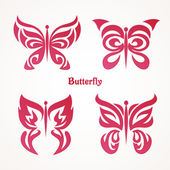 Photo Set with butterflies tattoos