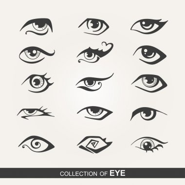 Stylized set of eyes