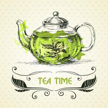 Kettle green tea.
