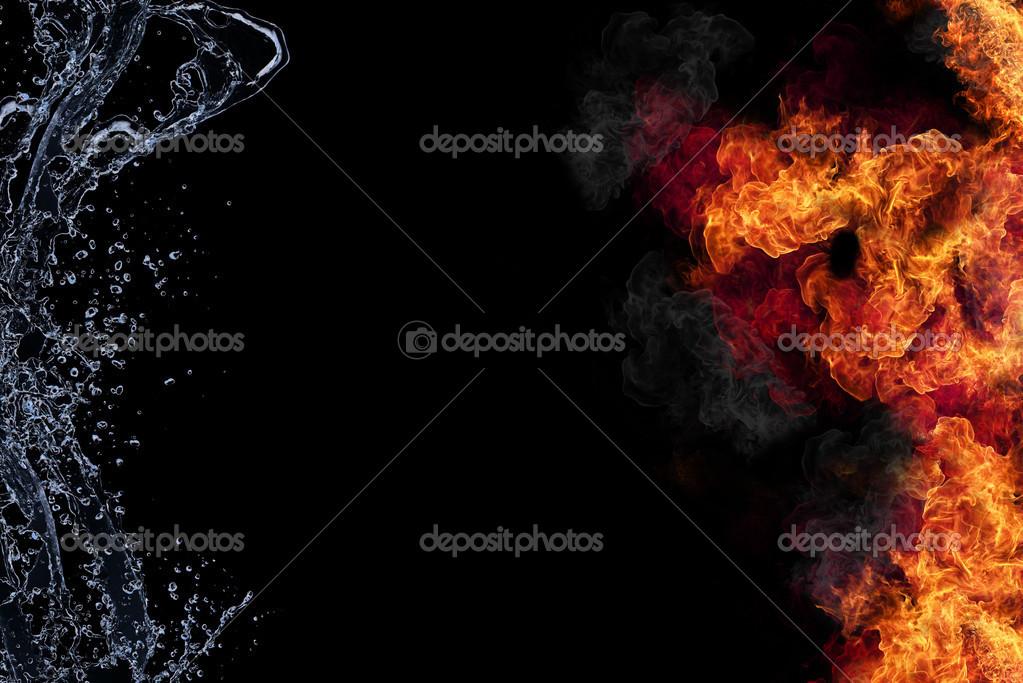 Feuer Und Wasser Stockfoto Jagcz 13143540