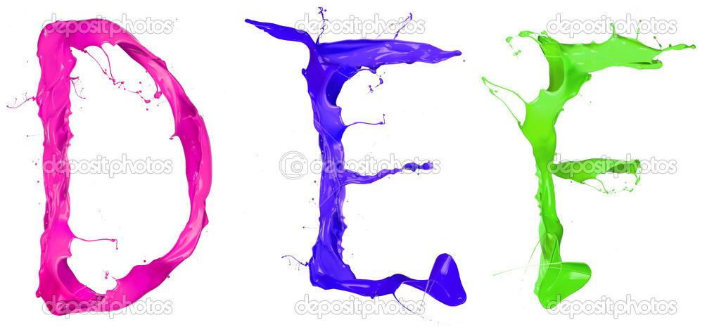 farbige buchstaben — Stockfoto © jag_cz #14726009