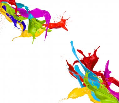 Colored splashes