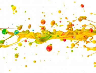 Colored splashes isolated on white background stock vector