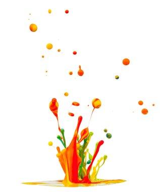 Colored splashes