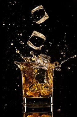 Splashing whiskey