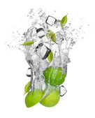Fruit in splash