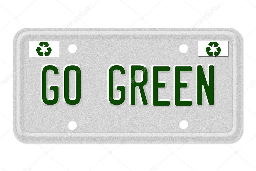 aller de plaque d 39 immatriculation de voiture verte photographie karenr 12588005. Black Bedroom Furniture Sets. Home Design Ideas