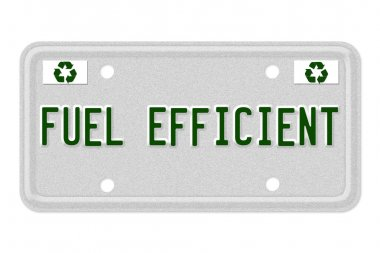 Fuel Efficient Car License Plate