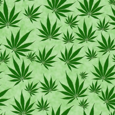 Marijuana Leaf Seamless Background