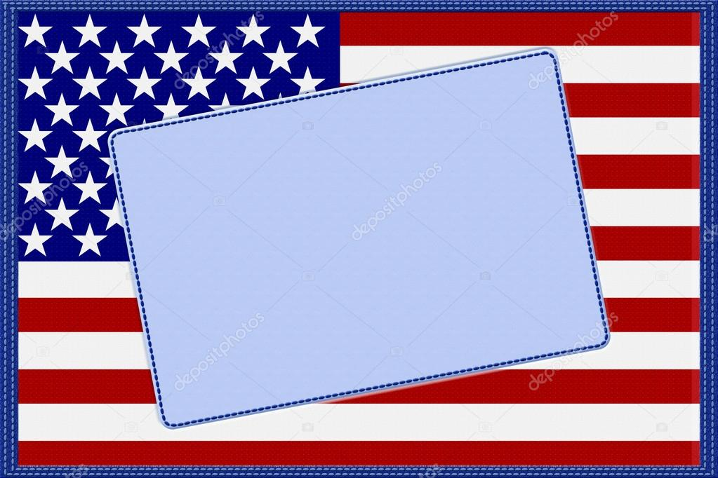 marco material de la bandera americana — Fotos de Stock © karenr ...