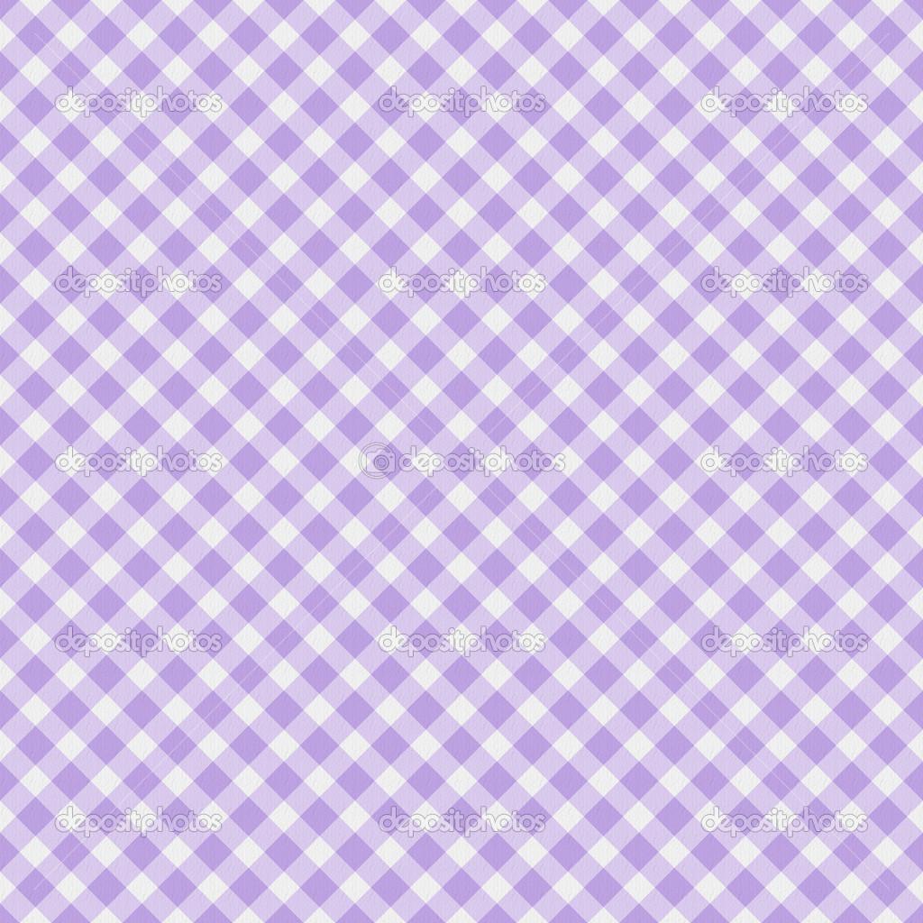 Light Purple Gingham Fabric Background Stock Photo