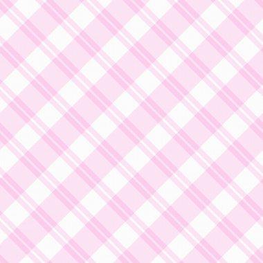 Light pink Plaid Fabric Background