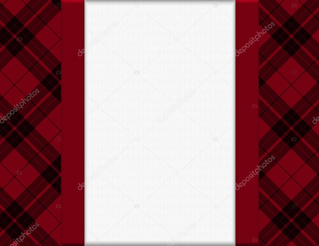 Red and Black Plaid Frame for your message or invitation — Stock ...