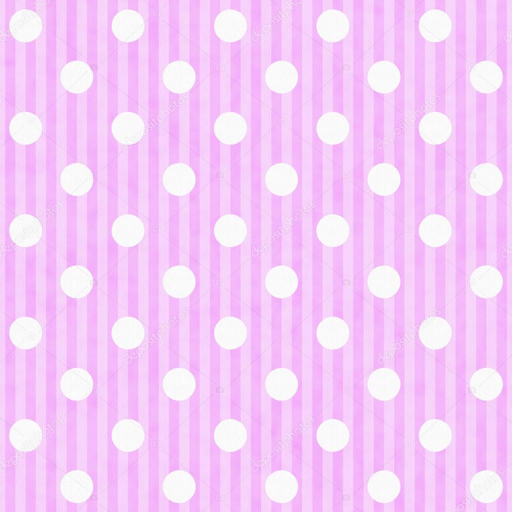 Bianco E Rosa Sfondo Di Tessuto A Pois E Strisce Foto Stock