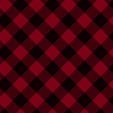 Red and Black Plaid Fabric Background