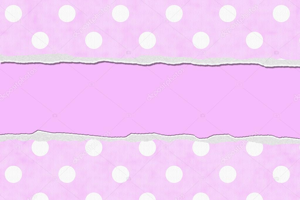 pink polka dot torn background for your message or invitation