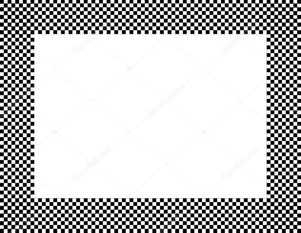 marco a cuadros blanco y negro — Foto de stock © karenr #38346545