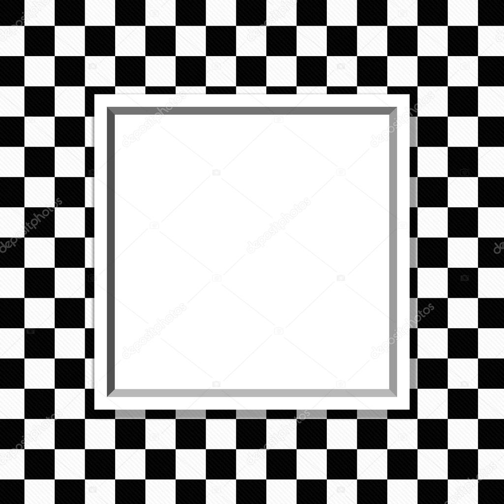 Black And White Checkered Frame With Frame Background Stock Photo