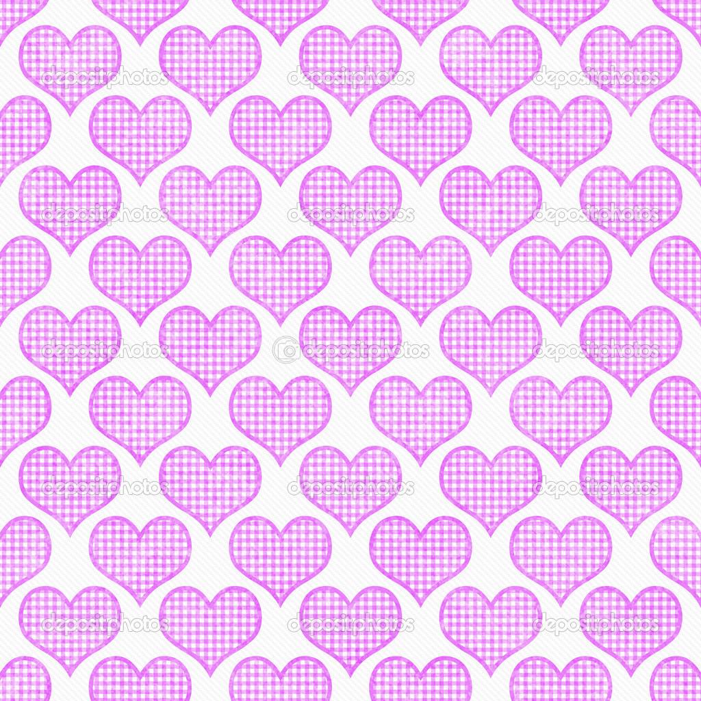 Sfondo Ripetere Per Il Modello Cuori Pois Rosa E Bianco Foto Stock