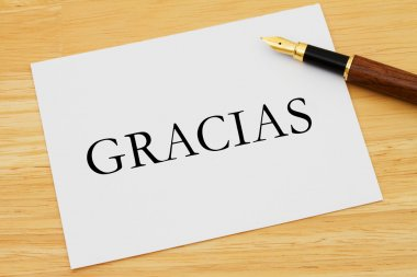 Writing a Thank You Note Gracias