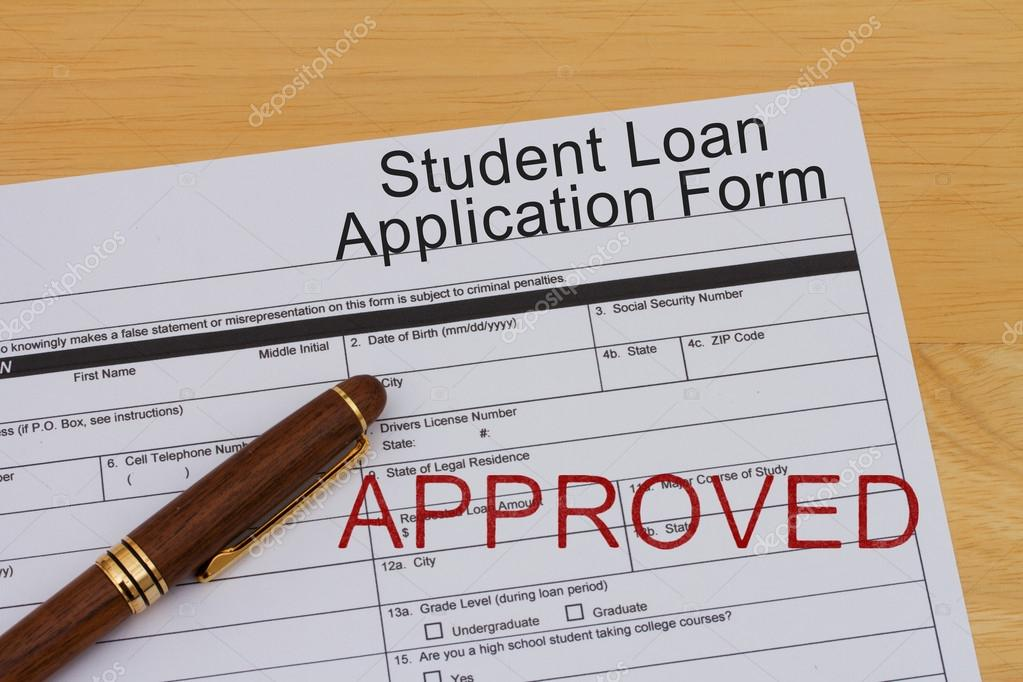 Student Loan Application Form U2014 Stock Photo