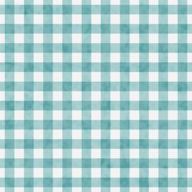Pale Teal Gingham Pattern Repeat Background