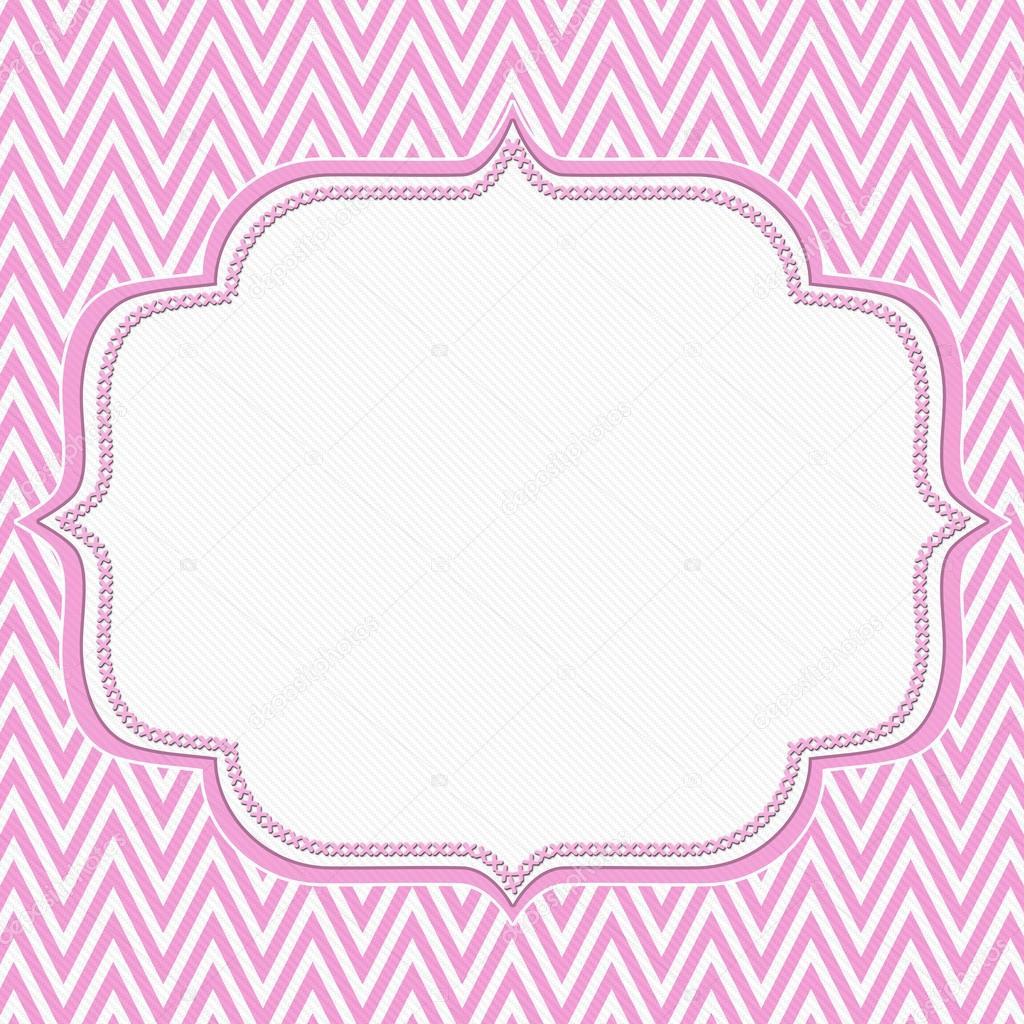Pink and White Chevron Zigzag Frame Background — Stock Photo ...