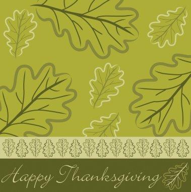 Hand drawn acorn leaf Thanksgiving card