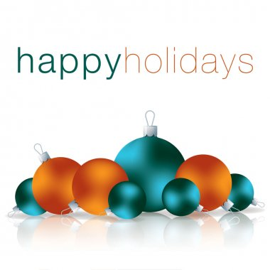 Happy Holidays bauble card in vector format