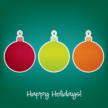 Happy Holidays sticker bauble card in vector format clip art vector