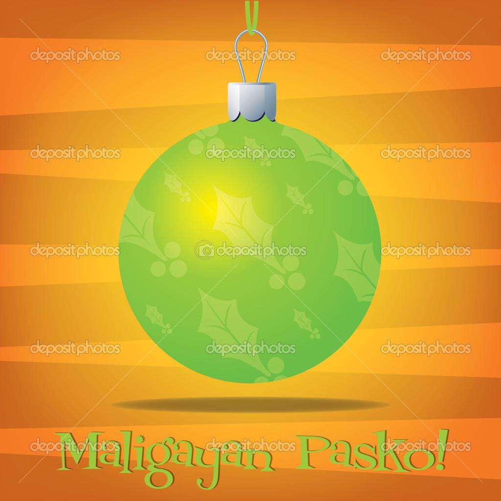 Carte De Decoration Noel Espagnol Funky Tagalog Image Vectorielle