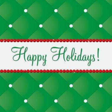 Happy Holidays bling card in vector format. clip art vector