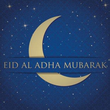 Crescent moon Eid Al Adha card in vector format