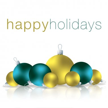 Happy Holidays bauble card in vector format clip art vector