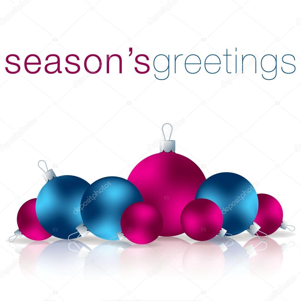 Seasons Greetings bauble card in vector format